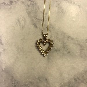 Jewelry - Kay Jewelers 14k Gold Heart Necklace